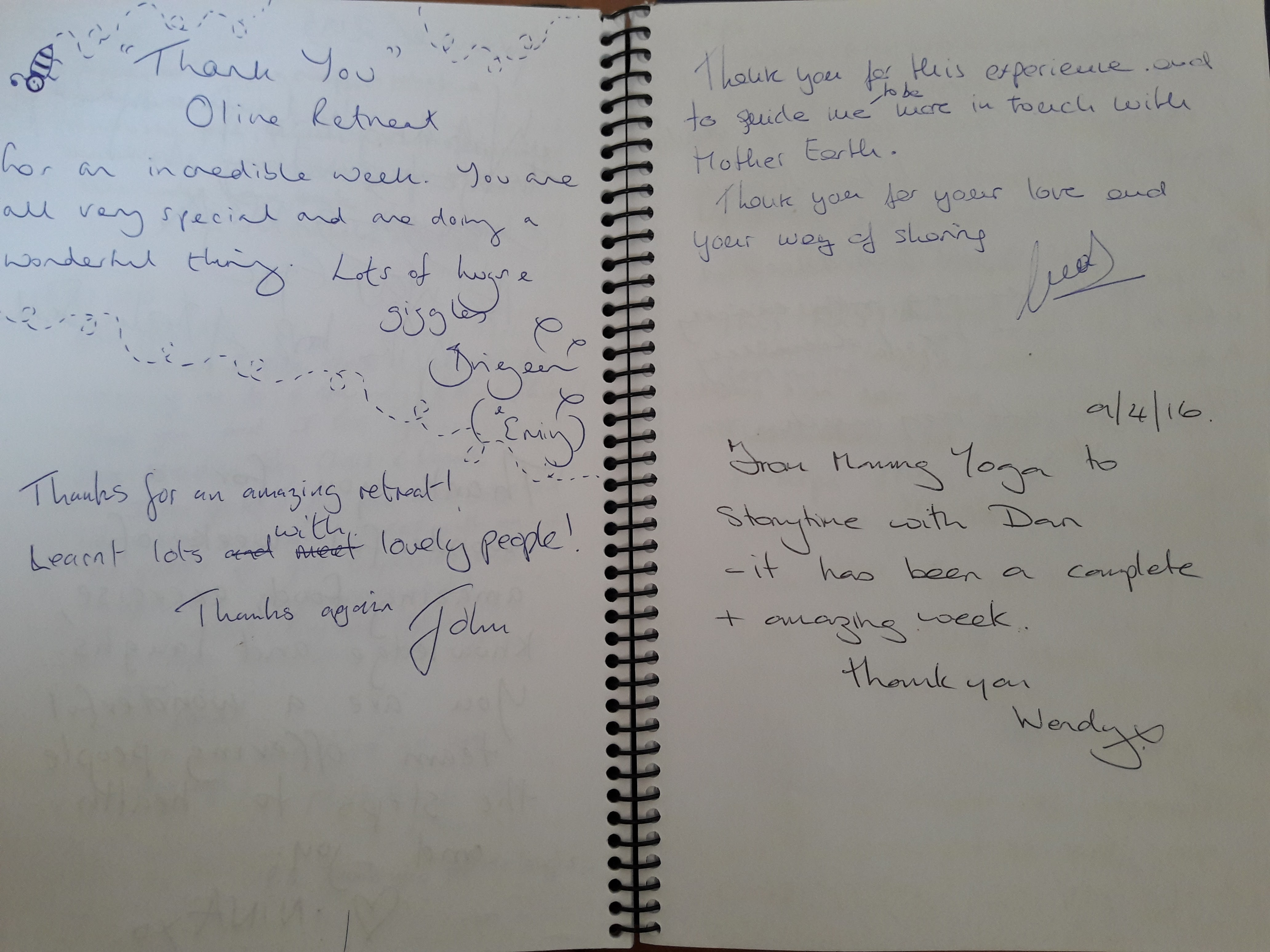 olive retreat testimonial hand written2