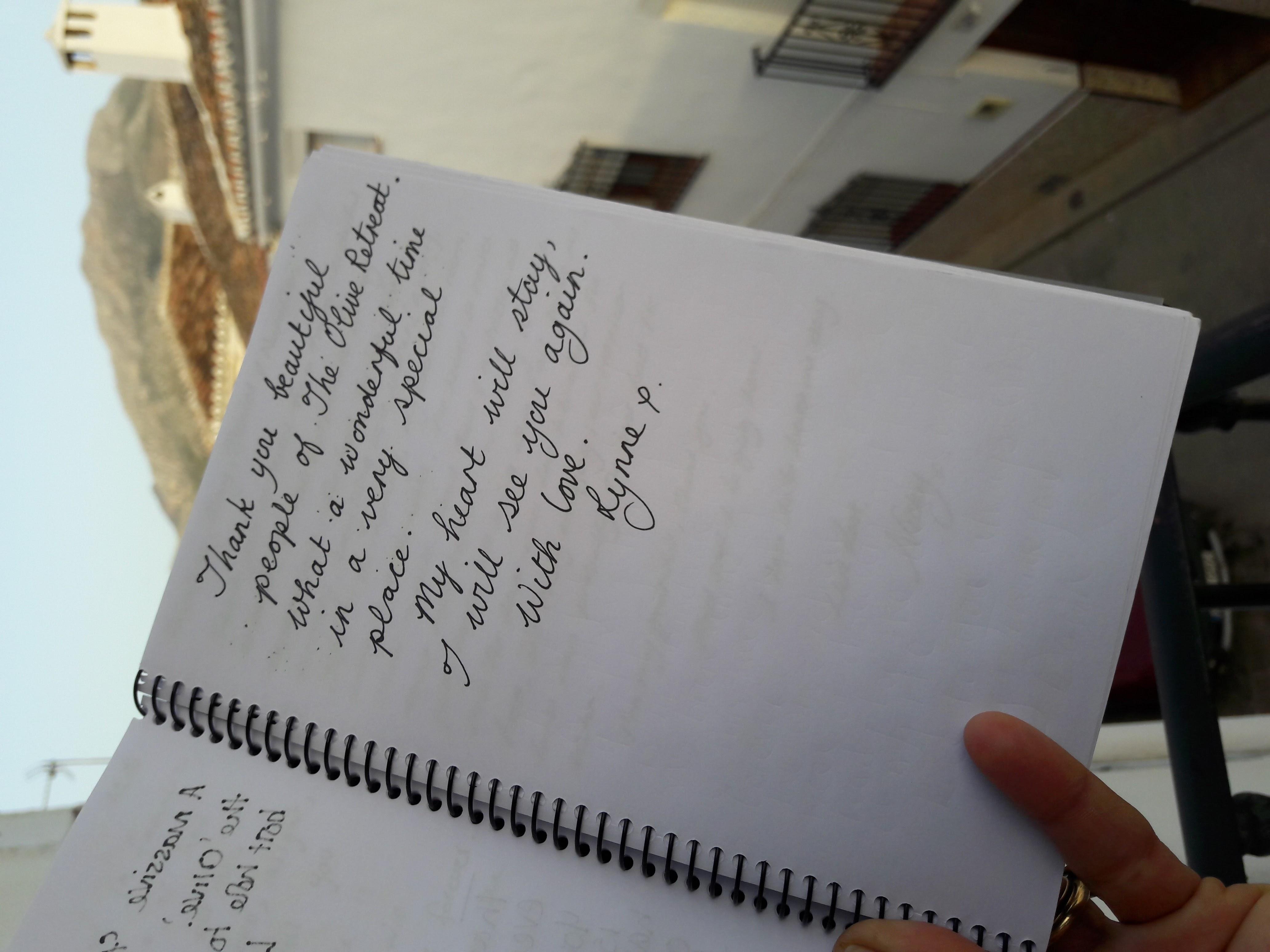 olive retreat testimonial hand written4